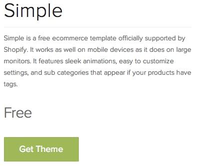 Shopify Get Free Theme